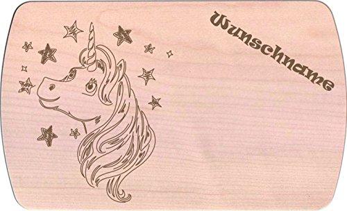 Farbklecks-Collection Frühstücksbrettchen - Einhorn 5