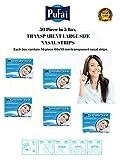 Nasenstreifen 50 Stück in 5 Dosen Large Size 66x19 mm Transparent Nasenstreifen von Pufai. Atmen Sie richtig ein.