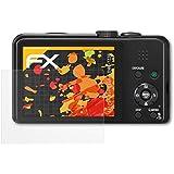 3 x atFoliX Schutzfolie Panasonic Lumix DMC-TZ36 Displayschutzfolie - FX-Antireflex blendfrei