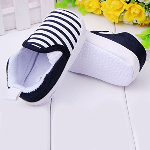 Silvercell Baby Striped Sneakers weiche Sohle Anti-Rutsch-Outdoor-Schuhe Black