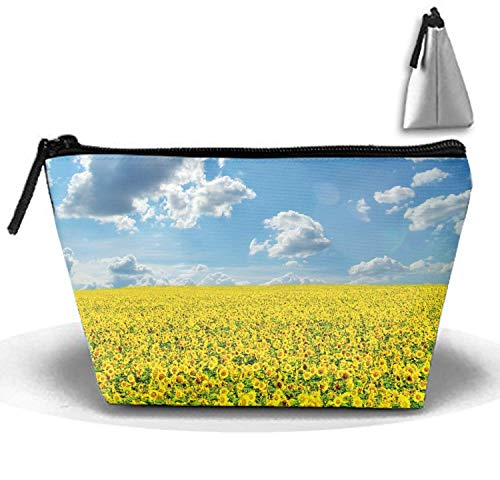 Black Floral Elephant Large Capacity Storage Bag Makeup Bag Portable Hand Bag Travel Wash Bag (Trapezoidal) Floral Dome