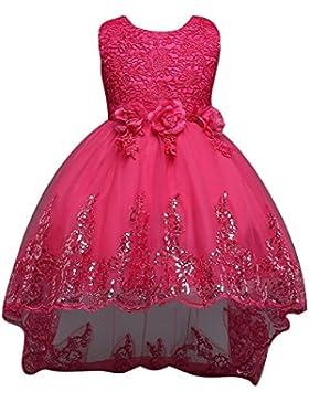 Juleya 2017 Bambine Vestito Elegante Paillettes con Vestito Principessa 1-12Y