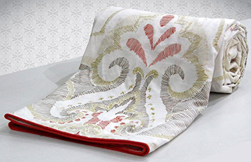 AURAVE Reversible Style Bridal Wedding Collection 1 pc Combed Cotton Duvet Cover/...