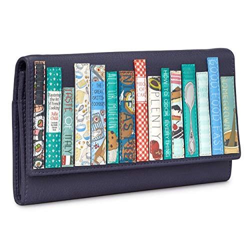 Yoshi Cookbook Bookworm Geldbörse aus echtem Leder mit Klappe über Matinee