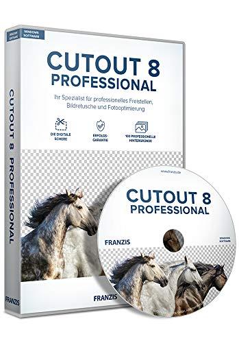 FRANZIS CutOut 8 professional 8 Die neueste Version vom Freistellspezialisten Inkl. Photoshop Plug-ins für den perfekten Workflow Bildretusche-Software für Windows® 10/8.1/8/7 Disc Disc