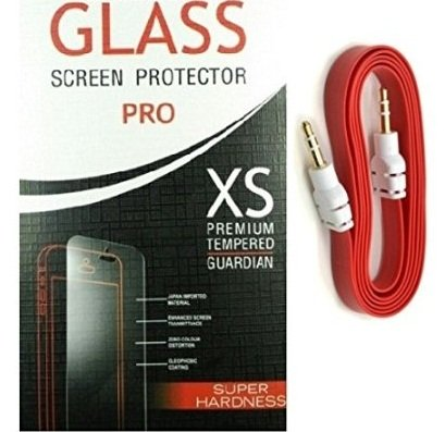 Tempered screen guard protector vivo Y22 With Griffin Aux Cable  available at amazon for Rs.396