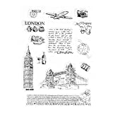 Kalttoy Tower of London Transparente Silikon Clear Stamp Cling Tagebuch DIY Scrapbooking