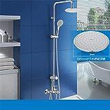 Hlluya Wasserhahn für Waschbecken Küche Dusch-kit voll Kupfer Badewanne Armatur Dusche Regen halten der oberen Schirmsprinkler.