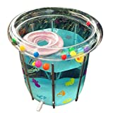 Aufblasbare Baby-Badewanne Kleinkind ShowerTub rutschfestes Duschbecken faltbar und beweglich Mini-Flugreise-Swimmingpool mit weichem Kissen für Jungen und Mädchen ( Edition : Plastic stent , Size : XXL )
