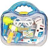 Pretender Maletín de médico Juguetes Kit de aprendizaje de regalos Juegos de rol Juegos con 10 PCS para Niños Niñas Edad 3 y Up