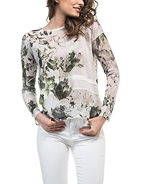 SALSA Camiseta manga larga con print floral y efecto transparente