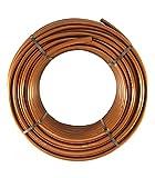 HidroRain Got T30C - Tubería de Goteo, 16 mm, con goteros turbulentos a 33 cm, Bobina de 25 Metros, Color marrón