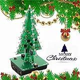 DIY 3D Árbol de Navidad Kit LED Siete colores Partes de circuito de flash LED Electrónico Divertido Suite Regalo de año nuevo de Navidad (7 colores)