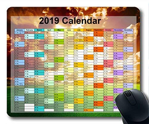 2019 Kalender-Mauspads, Silvester-Mauspad, Sternenhimmelkunst Gaming-Mauspad