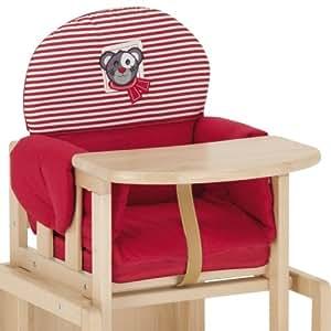 herlag h5064 362 sitzverkleinerer f r hochstuhl kombi set tx gestreift rot wei baby. Black Bedroom Furniture Sets. Home Design Ideas