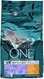 One Coat & Hairball Katzenfutter Huhn, 3er Pack (3 x 1,5 kg)