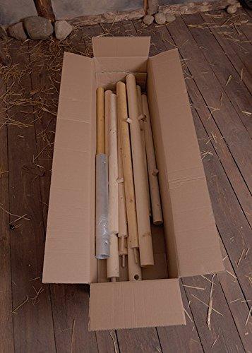 Holzstangen-Paket für Ritterzelt Historische Mittelalterzelt Herwald, 3 m 5m oder 6 m Durchmesser Ritterzelt LARP Lagerzelt Mittelalter Wikinger (Für 3 m Durchmesser)