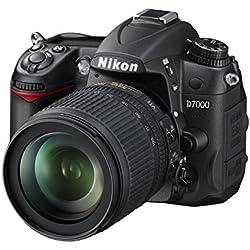Nikon D7000 Appareil photo numérique Réflex 16,2 Mpix Kit Boîtier + Objectif AF-S DXVR 18-105 Mm Noir (Reconditionné)