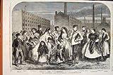 Fileur 1862 de Manchester d'Employés de Moulin de Famine de Coton