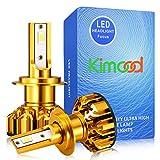 Bombilla H7 LED Coche Kimood LED H7 Coche, 10400LM y 72W / Set, 6000K Cool White 9-36V, Kit de Conversión Todo en Uno, Reemplazo de la Luz Halógena, 2 Lámparas