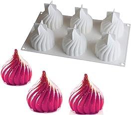 Lumanuby 1x Kreative Spiral Dessert Formen aus Silikon Russland Schloss Baldachin Schokoladen Formen für Mousse Tiramisu Decorating Zufällige Farbe, Silikon Formen Serie Size 29.8 * 17.8 * 7.5cm