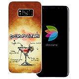 dessana Cocktail Rezepte Transparente Silikon TPU Schutzhülle 0,7mm Dünne Handy Tasche Soft Case für Samsung Galaxy S8 Plus Cosmopolitan