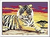 Ravensburger Malen nach Zahlen 28303 - Majestätischer Tiger, 18 x 24 cm