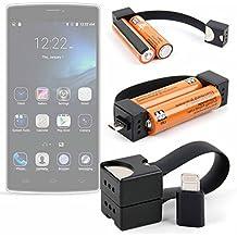 DURAGADGET Cargador de llavero para Ulefone Be One , Be Pro 2 , Be Pro , Be Pure Lite , Be Touch 2 , Be Touch 3 , Be Touch , Be X , Metal , Paris Golden , Paris Lite , Paris X , Paris , Power , U007 , Vienna . Necesita pilas AA.