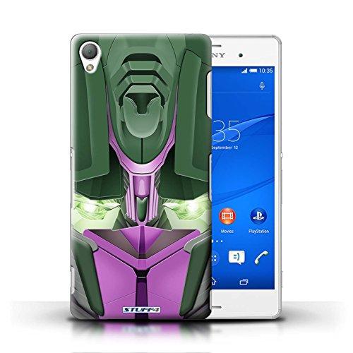 Kobalt® Imprimé Etui / Coque pour Sony Xperia Z3 / Opta-Bot Bleu conception / Série Robots Opta-Bot Rose