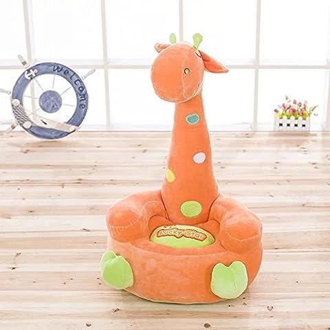 memorecool Creative girraffe Cartoon Canapé peluche Fauteuil pour enfants, merveilleux cadeaux pour anniversaire, garçons et filles de Favor, Coton, Orange, 18