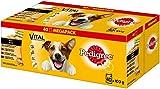Pedigree Vital Protection Adult Hochwertiges Hundefutter mit Huhn, Rind, Geflügel und Lamm in Sauce, 40 Beutel (40 x 100 g)