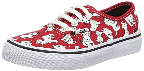 Vans  Authentic,  Sneaker ragazza Rosso Rouge (Disney/Dalmatians/Red) 33