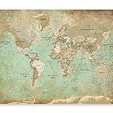 murando Papier peint intissé 350x256 cm Décoration Murale XXL Poster Tableaux Muraux Tapisserie Photo Trompe l'oeil Carte du Monde k-A-0105-a-a