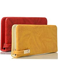 purses for women branded leather by EDGEKART® | Women's Latest Fancy Shiny PU leather Clutch Combo offer