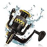 Spinning carrete pesca carrete 2000-6000 serie con manija plegable de metal ligero Spinning rueda de pesca de mar para pesca de agua salada,PT4000