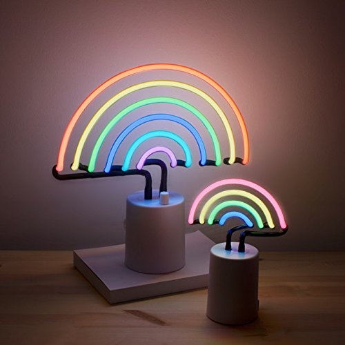 Rainbow Neon Light–Arco iris luz de neón Decoration LED Noche luces–UK Plug (grande–Large)