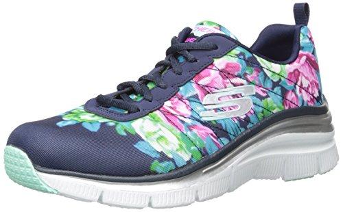 Skechers Damen Fashion Fit Sneaker blau (NVMT)