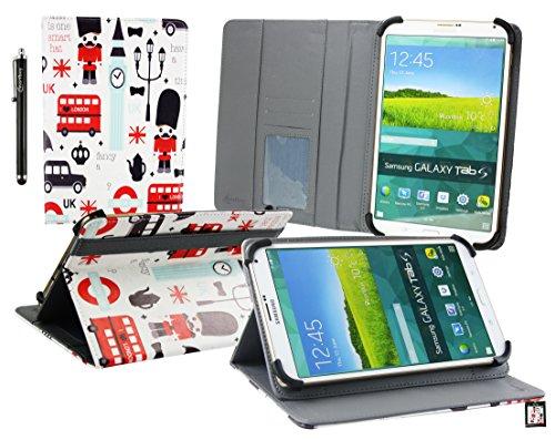 Emartbuy® Angelina Popular 8 Pouce Windows Tablette PC Ville Jouet Angle Multi Folio Exécutif Etui Coque Portefeuille Wallet Avec des Fentes de Cartes + Stylet