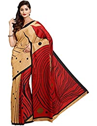 Nixa Women's Crepe Saree With Blouse Piece (Nixa 94888A_Multicolor)
