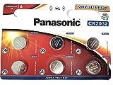 Panasonic CR2032 Lithium 12er-Pack Knopfzellen Batterie