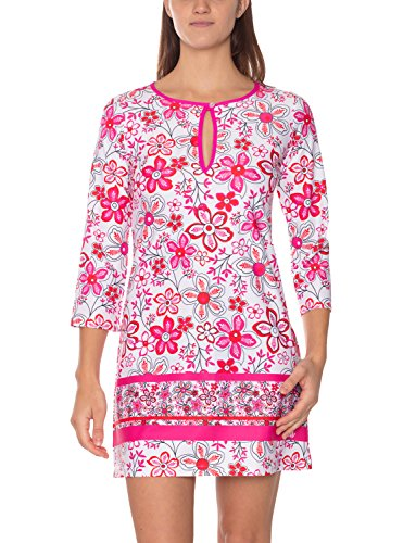 iQ-UV Damen UV Hippie Colorido Tunika, Pink, XXL (46)