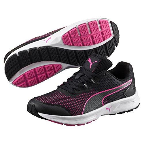 Puma Descendant v4 Wn's, Zapatilla para Mujer, Negro (Black-Pink Glo 02), 36 EU