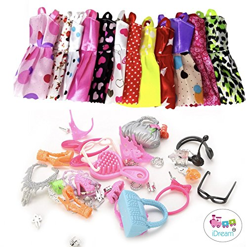 idream 10pcs doll dress & doll accessories (combo pack) compatible with barbie doll - 51c2kLeqy1L - iDream 10pcs Doll Dress & Doll Accessories (Combo Pack) Compatible With Barbie Doll home - 51c2kLeqy1L - Home