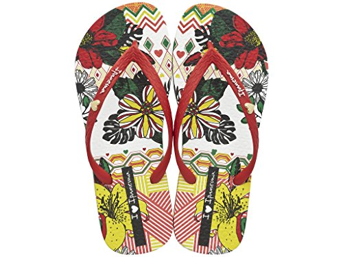 Ipanema , Tongs pour femme multicolore Mehrfarbig weiß-rot (21682)