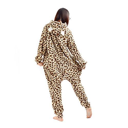 Imagen de darkcom  disfraz de animal unisex para adulto sirve como pijama o cosplay sleepsuit de una pieza de leopardo oso alternativa