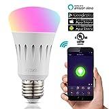 TREKOO Smart LED WiFi Lampen 7W Dimmbar Mehrfarbig RGB LED Birne E27 Glühbirnen ändern Stimmung...