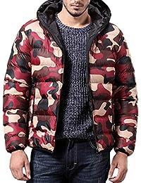 Giacca Invernale Uomo Cappotto Outwear Camouflage Slim Trench Cerniera  Tappi Giacche Resistenti all Acqua Jacket 1bde2c318b8