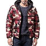 OHQ Herren Winter Jacke Mantel Outwear Camouflage Slim Trench Reißverschluss Caps Mantel Kapuzen Langarm Daunenjacke Mode warm hoch Qualität Manterl für Männer