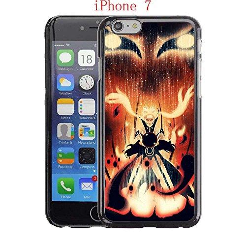 iPhone 7Fall, Nine Tails Naruto Drop Schutz Verblasst Nicht Rutschfeste Kratzfest Schwarz Hard Kunststoff Case