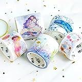 JSGDJD Klebeband 5 Stk./pack Tochter Des Meeres Washi Tape DIY Scrapbooking Sticker Label Abdeckband Schule Bürobedarf - 5 Stk/Pack